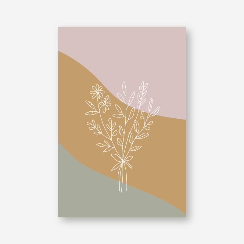 Minikaartje: bloemen (K)