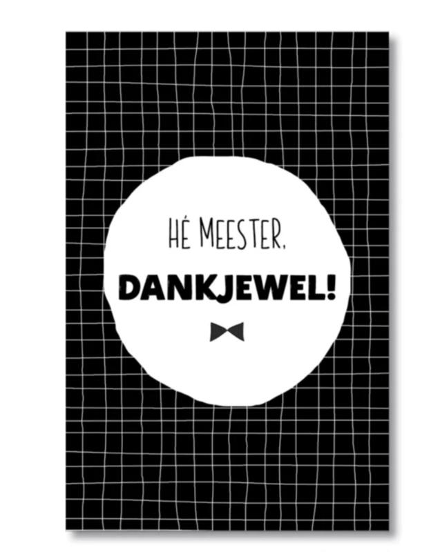 Mini kaartje: hé meester, dankjewel! (S)