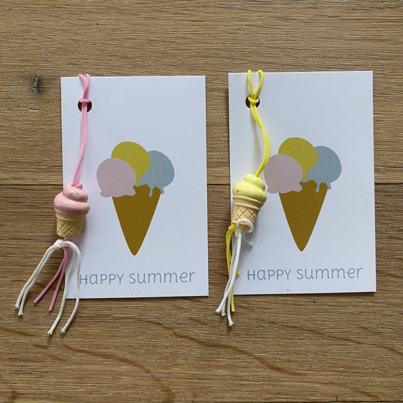 Gelukskaartje: happy summer  (K)