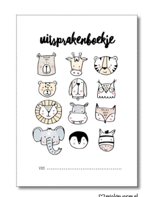 uitspraken boekje  dieren, baby/peuter/kind