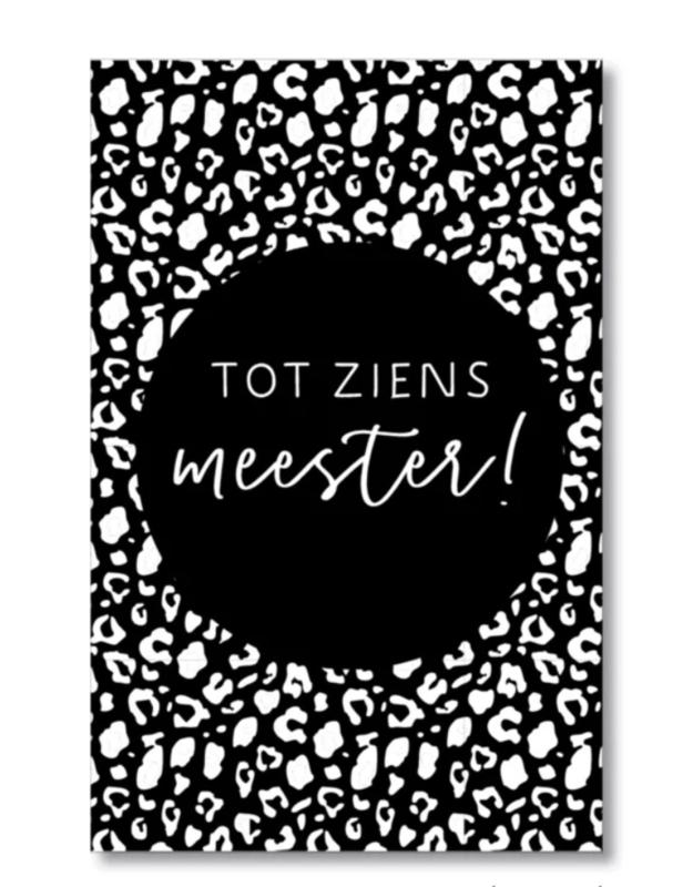 Mini kaartje: tot ziens meester! (S)