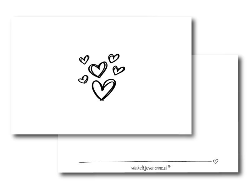Minikaartje: hartjes (W)