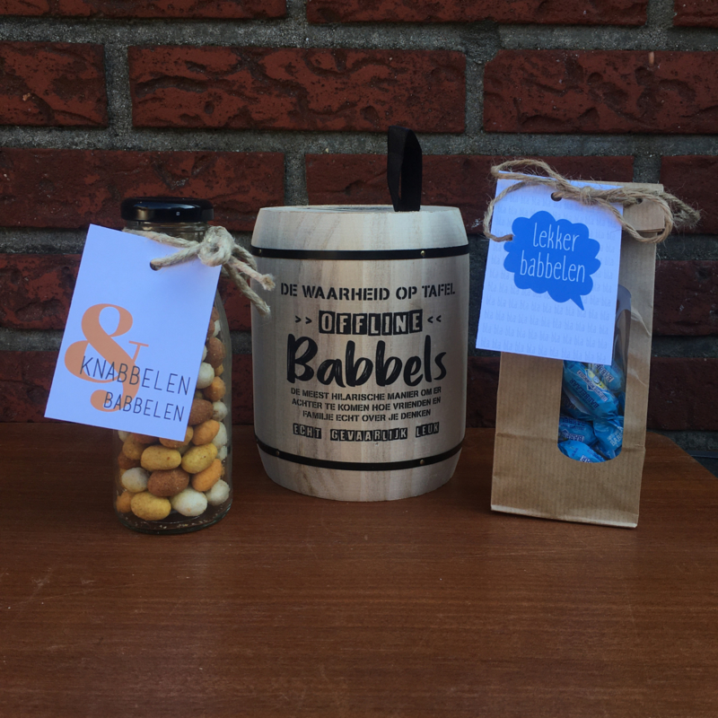 Kerst pakket: Babbels: knabbelen & lekker babbelen