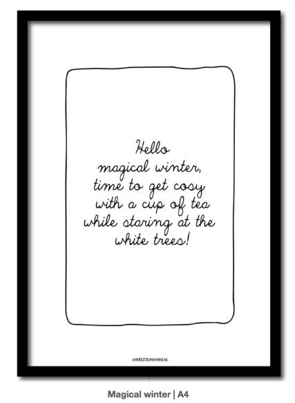 Poster A4, Hello magical winter...