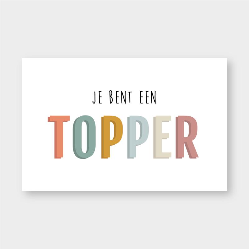 Mini kaartje: je bent een TOPPER (K)
