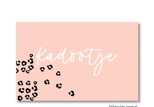 mini kaartje: kadootje (roze) (M)