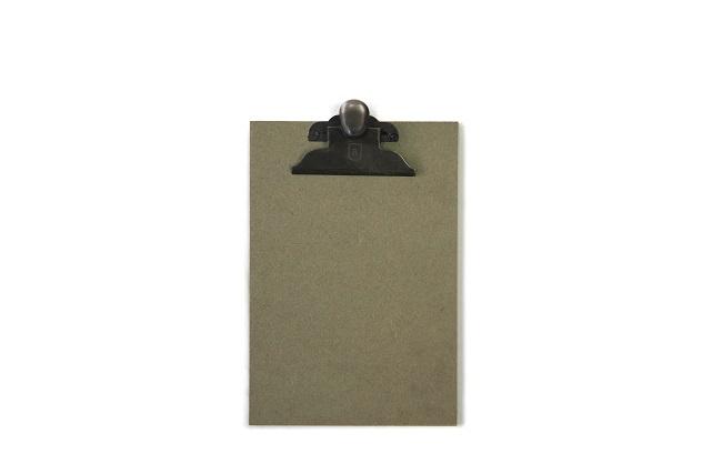 Houten klembord A5, vintage groen