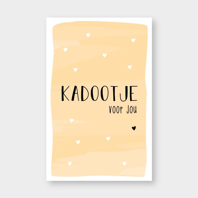 Mini kaartje: kadootje voor jou  (K)