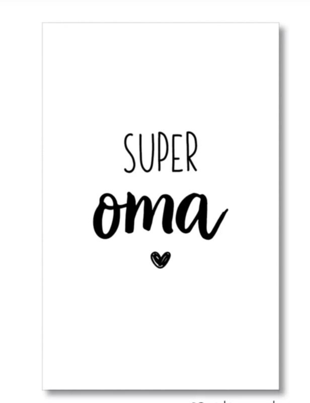 Mini kaartje: super oma (M)