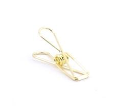 Fish clip S goud