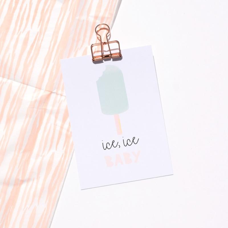 Postcard: Ice, ice BABY