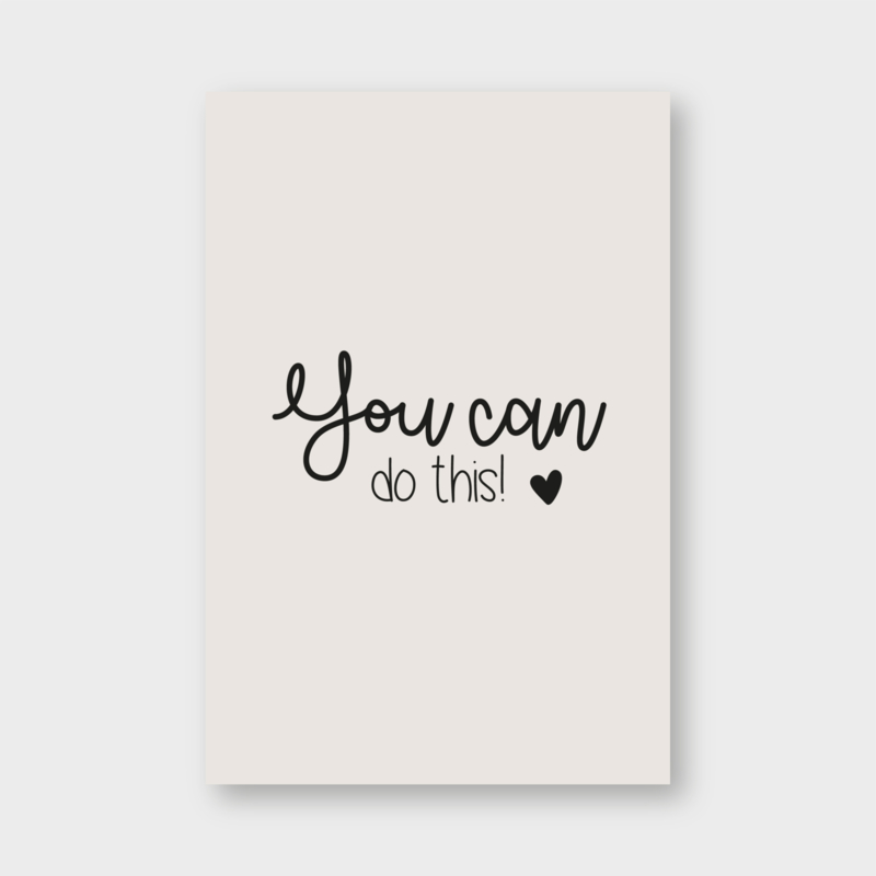 Minikaartje: you can do this! (K)