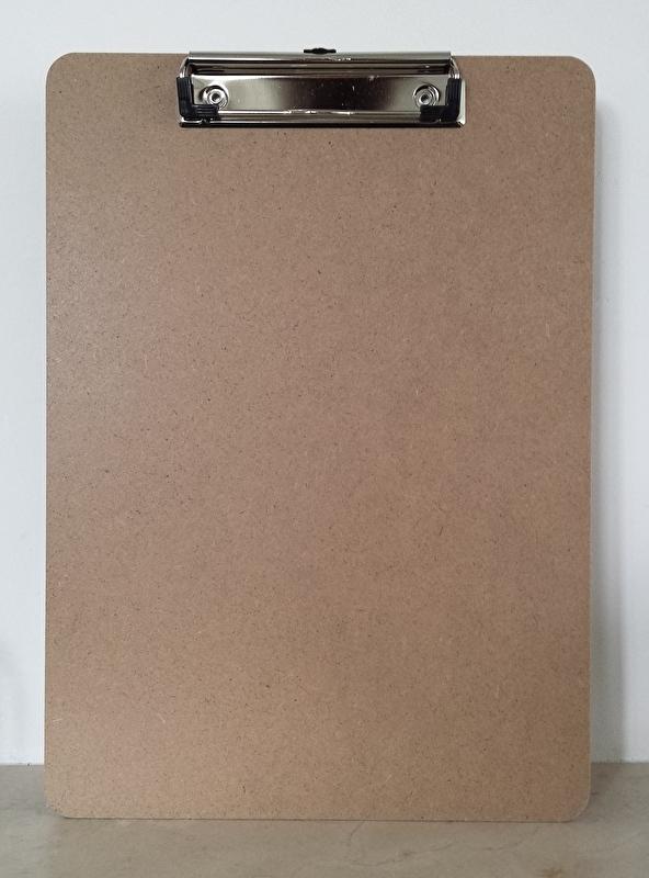 klembord A4,  platte klem, hardboard