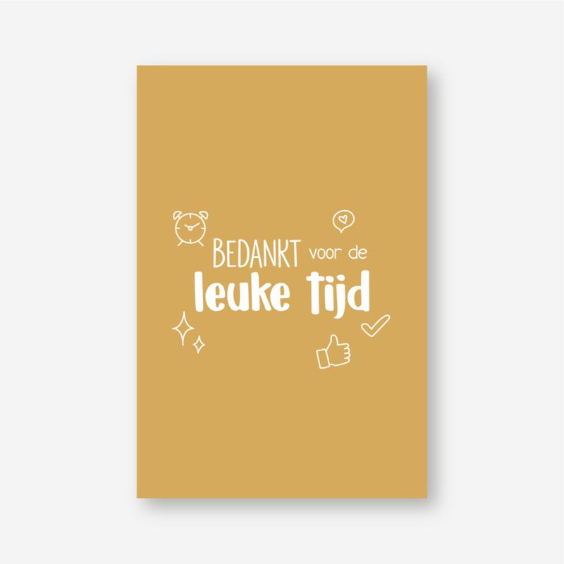 Minikaartje: BEDANKT voor de LEUKE TIJD (K)