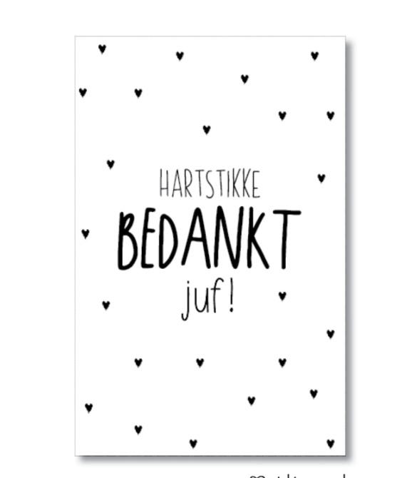 Minikaartje: hartstikke bedankt juf! (S)