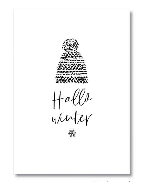 Poster A4, Hallo winter