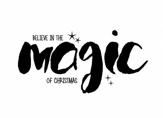 Postcard, believe in the magic of christmas!
