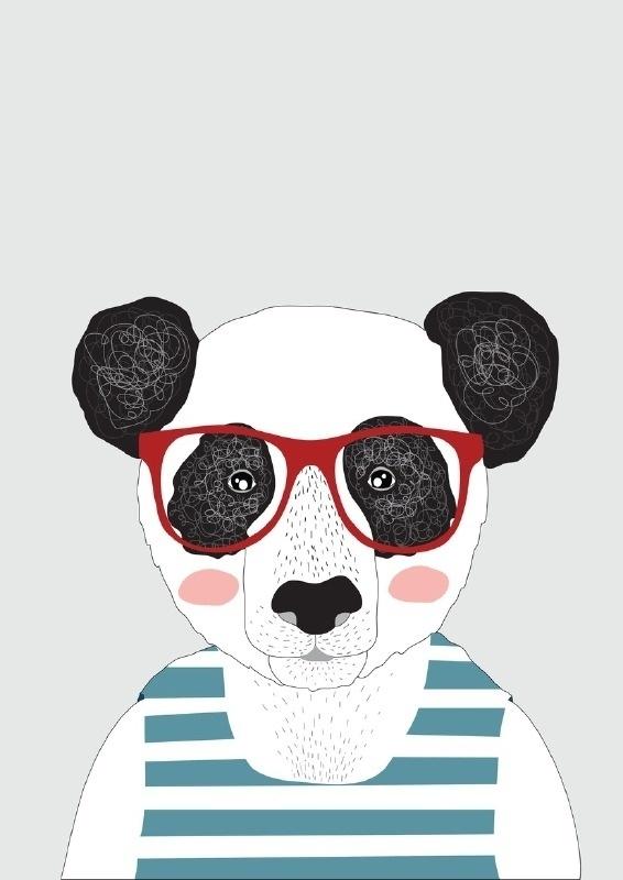 Poster A4 kids, Panda
