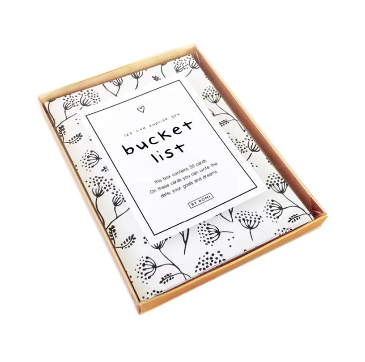 Bucket list bewaarbox