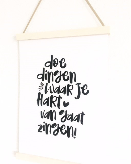 Poster ophangsysteem hout, A4/A5 (taupe lint)