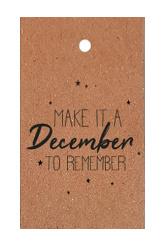 klein kadokaartje: make it a December to remember (kraft)