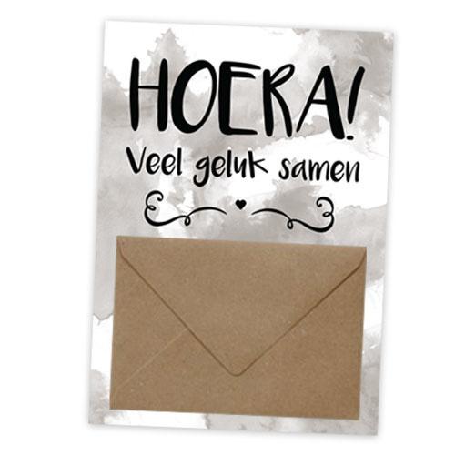 Geldkaart HOERA! Veel geluk samen