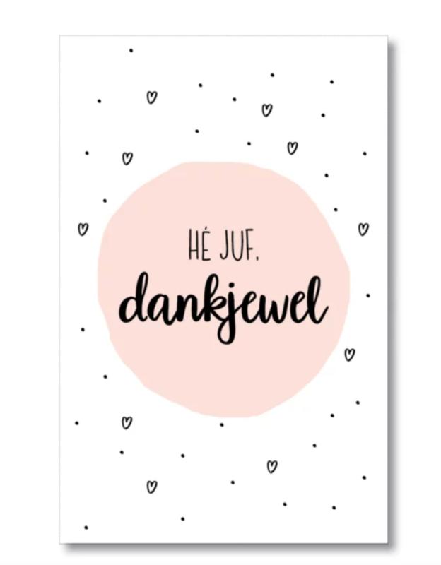 Mini kaartje: Hé JUF, dankjewel (S)
