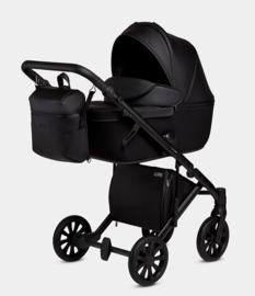 Anex e/type (Cross)  Kinderwagen zwart eco leder