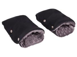 Handschoenen apart voor kinderwagen met minky (BB)