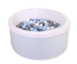 Ballenbadje XL licht blauw + 200 ballen naar keuze