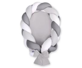 Babynest / cocoon 2IN1 grijs donker grijs