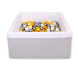 Ballenbadje vierkant XL grijs + 200 ballen naar keuze