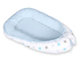 Babynest cocoon blauw ster