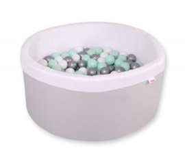 Ballenbadje XL grijs + 200 ballen naar keuze