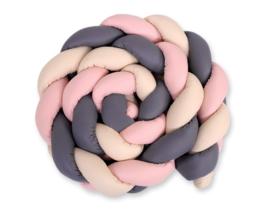 bedrand Vlecht / knot roos XXL(verschillende kleuren combo)