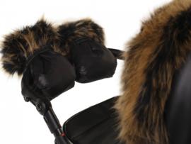 Handschoenen met luxe bont