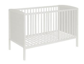 Babybed beuk gesloten kant wit