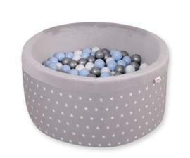 Ballenbadje XL grijs ster + 200 ballen naar keuze