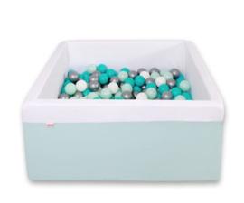 Ballenbadje vierkant XL munt + 200 ballen naar keuze