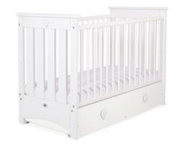 Babybed Lorenzo wit / wit met of zonder schuif