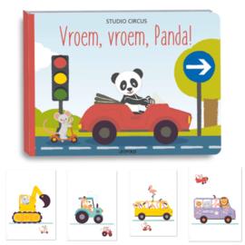 Vroem, vroem Panda plus kaarten
