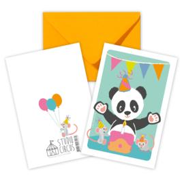 A6 Panda mit Umschlag