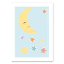 A4 Maan met sterren