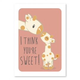 A6 Giraffe 'I think you're sweet'