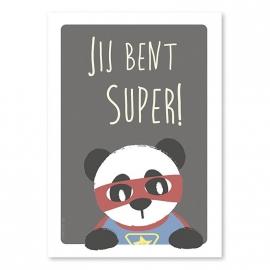 A6 Super Panda 'jij bent super'