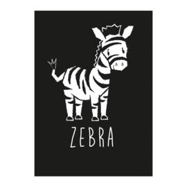 A6 Zebra zwart/wit