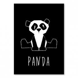 A6 Panda schwarz-weiß