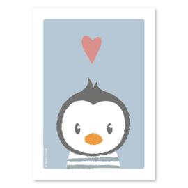 A4 Pinguïn met streepjestrui