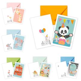 Set dubbele kaarten met envelop