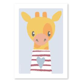 A4 Giraffe met streepjes trui